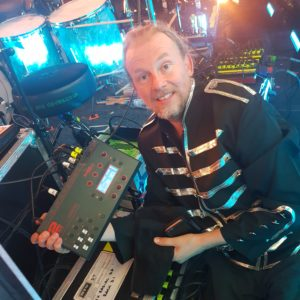 Morgan with his DI5MK2 from his tour with Devin Townsend,